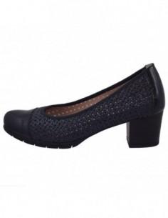 Pantofi perforati dama, piele naturala, marca Pitillos, Cod 5033-K9-132, culoare negru imprimat