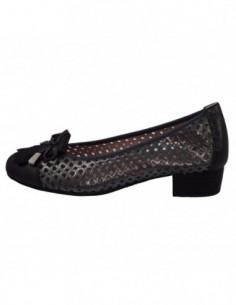 Pantofi perforati dama, piele naturala, marca Pitillos, Cod 5041-48-132, culoare negru cu argintiu