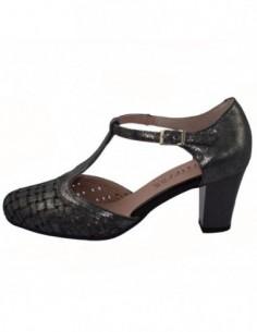 Pantofi perforati dama, piele naturala, marca Pitillos, Cod 5057-18-132, culoare argintiu