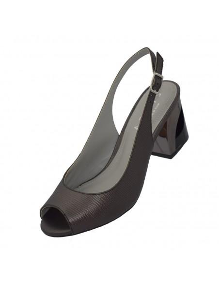 Pantofi Eldemas piele naturală coniac 2811-1BS