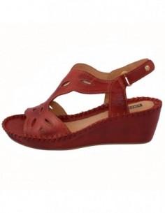 Sandale dama, piele naturala, marca Pikolinos, Cod 943-1607-05-21, culoare rosu