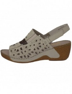 Sandale dama, piele naturala, marca Rieker, Cod 65695-80-03-22, culoare bej