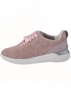 Adidasi dama, piele naturala, marca Geox, Cod D828SC-C8056-10, culoare roz