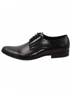 Pantofi barbati, piele naturala, marca Conhpol, Cod PBC-4592-Z009-00S01-01-40, culoare negru