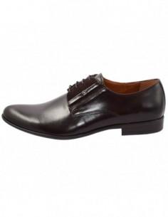 Pantofi barbati, piele naturala, marca Conhpol, Cod PBC-4592-ZA35-00S02-02-40, culoare maro