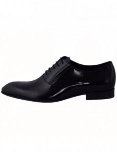 Pantofi barbati, piele naturala, marca Conhpol, Cod PBC-5546-0017-00S01-01-40, culoare negru