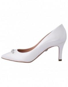 Pantofi dama, piele naturala, marca Conhpol, Cod PFCB-V-3281S-K2-40, culoare alb satin