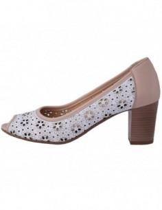 Pantofi decupati dama, piele naturala, marca Conhpol, Cod PFCR-635-6015-M2-40, culoare nude