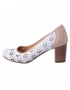 Pantofi dama, piele naturala, marca Conhpol, Cod PFCR-636-6015-M2-40, culoare nude