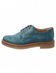 Pantofi dama, piele naturala, marca KicKers, Cod 512056-43-134, culoare turcoaz