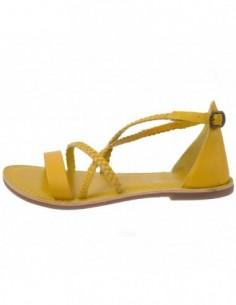 Sandale dama, piele naturala, marca KicKers, Cod 609430-08-134, culoare galben