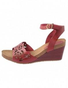 Sandale dama, piele naturala, marca KicKers, Cod 609620-05-134, culoare rosu