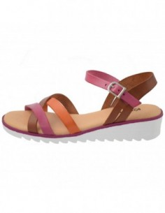 Sandale dama, piele naturala, marca KicKers, Cod 622540-02-134, culoare maro
