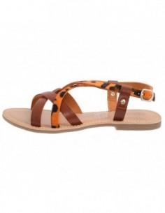 Sandale dama, piele naturala, marca KicKers, Cod 627960-11-134, culoare orange