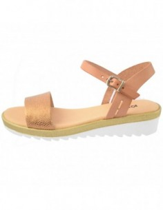 Sandale dama, piele naturala, marca KicKers, Cod 622521-02-134, culoare maro