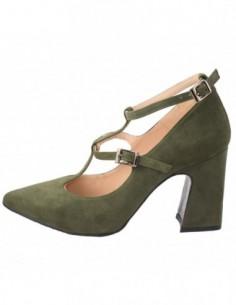 Pantofi dama, piele naturala, marca Brenda Zaro, Cod T1757-32-84, culoare olive