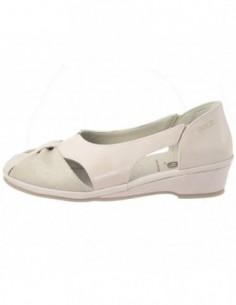 Pantofi decupati dama, piele naturala, marca Suave, Cod SU-0261T-18-52-31, culoare crem