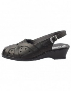Sandale dama, piele naturala, marca Suave, Cod SU-0019T-18-01-31, culoare negru