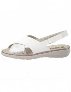 Sandale dama, piele naturala, marca Suave, Cod SU-6806T-18-K4-31, culoare alb cu multicolor