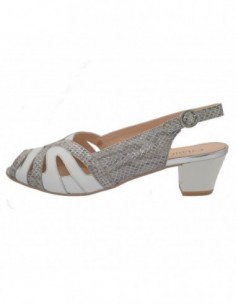 Sandale dama, piele naturala, marca Caprice, Cod 9-29501-20-96-03, culoare gri cu alb