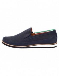 Pantofi perforati barbati, piele naturala, marca Conhpol, Cod D1266S-19-42-40, culoare bleumarin