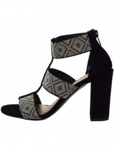 Sandale dama, piele si sintetic, marca Conhpol, Cod 2889-01-40, culoare negru