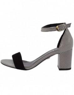 Sandale dama, piele naturala, marca Conhpol, Cod 2968S-47-40, culoare alb cu negru