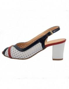 Sandale dama, piele naturala, marca Conhpol, Cod 788N-F3-40, culoare alb cu multicolor