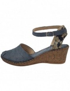Sandale dama, piele naturala, marca Walk, Cod 8103-18550-41-38, culoare blue