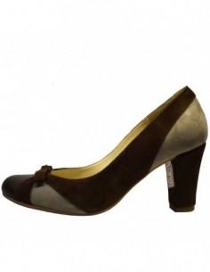 Pantofi dama, din piele naturala, marca Poison Concept, 418-02-80, maro