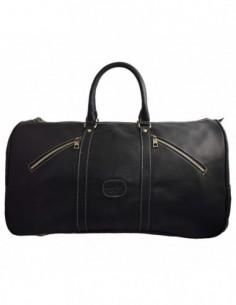Geanta voiaj, piele naturala, marca Desisan, Cod 705-18-01-26, culoare negru