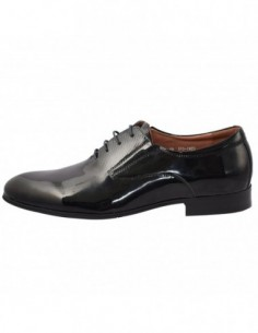 Pantofi barbati, piele naturala, marca Alberto Clarini, Cod C241-01A-01-113, culoare negru