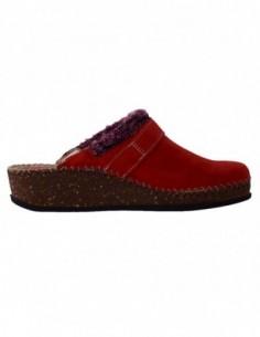 Papuci de casa dama, piele naturala, marca Walk, Cod 1124-16990-5, culoare rosu