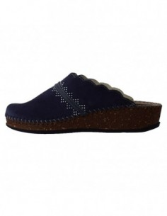 Papuci de casa dama, piele naturala, marca Walk, Cod 1124-22664-42, culoare bleumarin