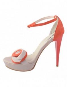 Sandale dama, din piele naturala, marca Botta, 147-37, corai