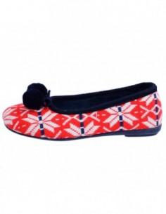 Papuci de casa dama, textil, marca Gioseppo, Cod 16453-5, culoare rosu