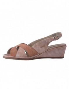 Sandale dama, din piele naturala, marca Suave, 1837T-J1, roz cu diverse