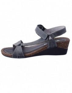 Sandale dama, piele naturala, marca Walk, Cod 2228-21626-1, culoare negru