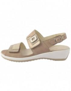 Sandale dama, piele naturala, marca Waldlaufer, Cod 2250006-554ginger-3, culoare bej
