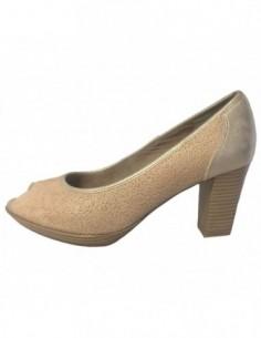 Pantofi decupati dama, din piele naturala, marca Marco Tozzi, 2-29306-26-3, bej
