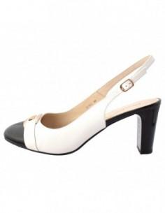 Pantofi dama, piele naturala, marca Deska, Cod 27381-K2, culoare alb satin