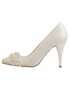 Pantofi dama, din piele naturala, marca Botta, 433-13-05, alb