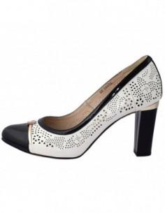 Pantofi dama, piele naturala, marca Deska, Cod 27582-K2, culoare alb satin