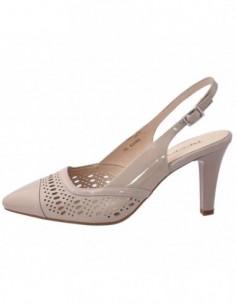 Pantofi decupati dama, piele naturala, marca Deska, Cod 29316-3, culoare bej