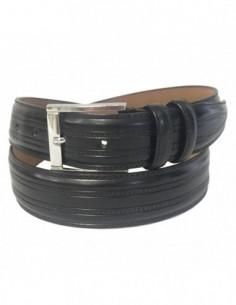 Curea barbati, piele naturala, marca Bond, Cod 4153-1, culoare negru