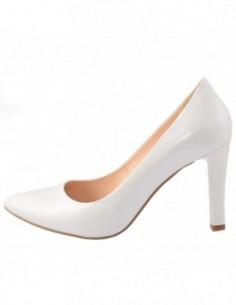 Pantofi dama, piele naturala, marca Botta, Cod 428ALB-K2, culoare alb satin