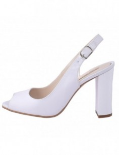 Sandale dama, piele naturala, marca Botta, Cod 459-K2, culoare alb satin