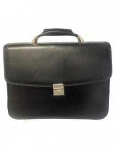 Servieta barbati, piele naturala, marca Desisan, Cod 5017-1, culoare negru
