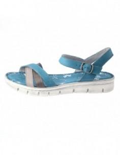 Sandale dama, piele naturala, marca Walk, Cod 5199-38180-43, culoare turcoaz