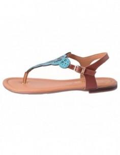 Sandale dama, piele naturala, marca sOliver, Cod 5-28102-28-6, culoare verde